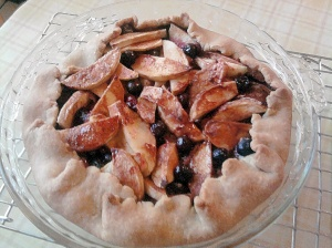 Apple-Blueberry Pie by Laurie Sterbens